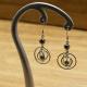 Boucles Oreilles Hématite Triple Cercles