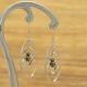 Boucles Oreilles Double Pétales Inox Hématite