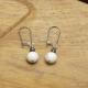 Boucles Oreilles Hématite Crochet Fermoir