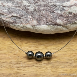 Collier Hématite Triple Pierres