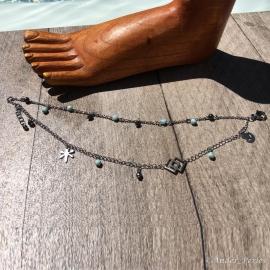 Bracelet Pour Cheville Hématite Larimar