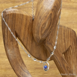 Collier Chaîne Tressée Lapis Lazuli