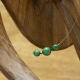 Collier Fil inox Triple Malachite