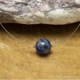Collier Fil inox Lapis-Lazuli