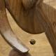 Collier Fil Inox Oeil De Tigre Ronde