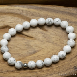 Bracelet Extensible en Howlite