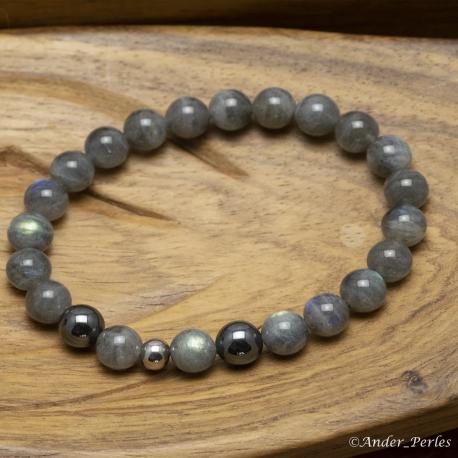 Bracelet Extensible en Labradorite