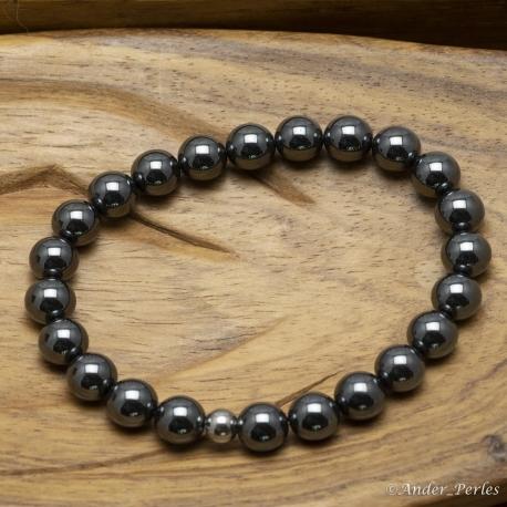 Bracelet Extensible en Hématite