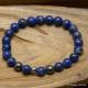 Bracelet Extensible en Lapis Lazuli & Hématite