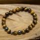 Bracelet Extensible en Oeil de Tigre & Hématite