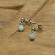 Boucles d'oreilles en Argent 925 sur Malachite & Hématite