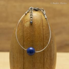 Bracelet double Fils en Inox & Lapis_Lazuli