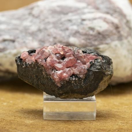 Pierre de Rhodochrosite cristallisée