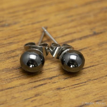 Boucles d'oreilles Hématite