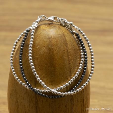 Bracelet Hématite Argent