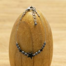 Bracelet Hématite Etoile