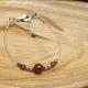 Bracelet Agate rouge  Hématite Inox