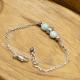 Bracelet Larimar Billes Inox