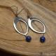 Boucles Oreilles Lapis Lazuli chainette