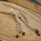 Boucles Oreilles Agate Rouge Hématite